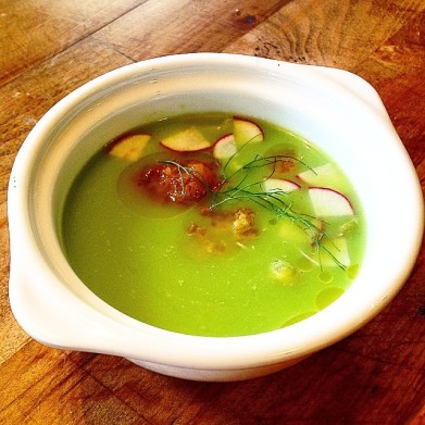 Chilled Sweet Pea Soup